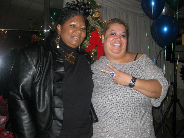 TSB's Manager Jaye Morris and Peace Boston President Cindy Diggs