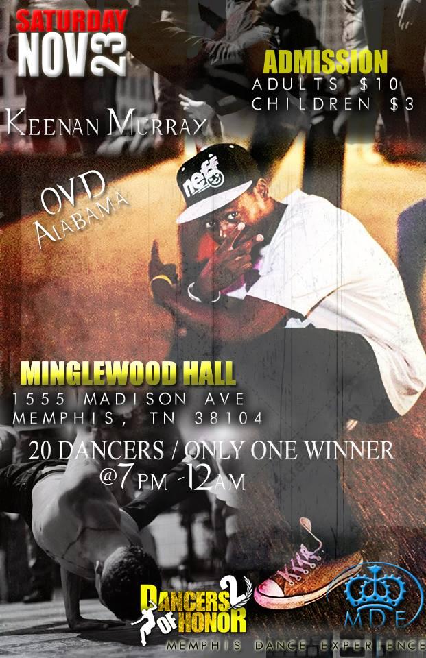 Flyer for Dancers of Honor in Memphis