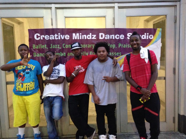 Keenan with students and Instructors from Creative Minds Dance Studio at the Revive  Birmingham Festival