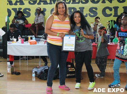 Muriel out of Alabama receiving an award.